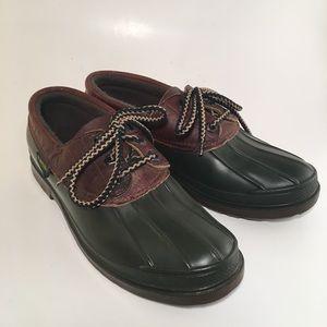 Kamik Shoes - Kamik Green and Brown Duck/Rain boots.